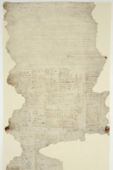 The Waitangi Sheet of the Treaty of Waitangi, signed between the British Crown and various Maori chiefs in 1840.