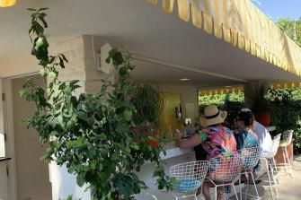 The lemonade stand bar.