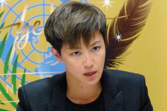 "Ho denouncing ""deceitful promises"" by  Chinese authorities at the UN prompted a Chinese diplomat to interrupt her twice."