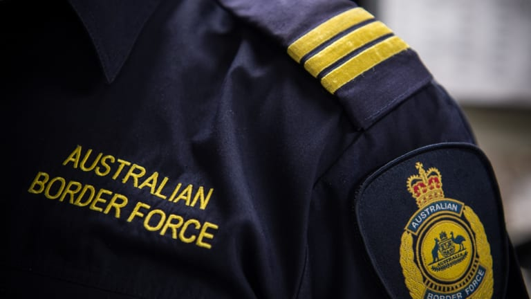 officials from the department of home affairs which includes the australian border force have