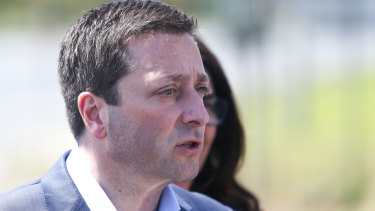 State opposition leader Matthew Guy