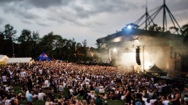 Riverstage can host nearly 10,000 people on the grass before the stage.