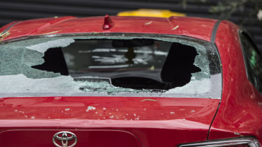 Cars across Sydney sustained severe damage in the December storm.