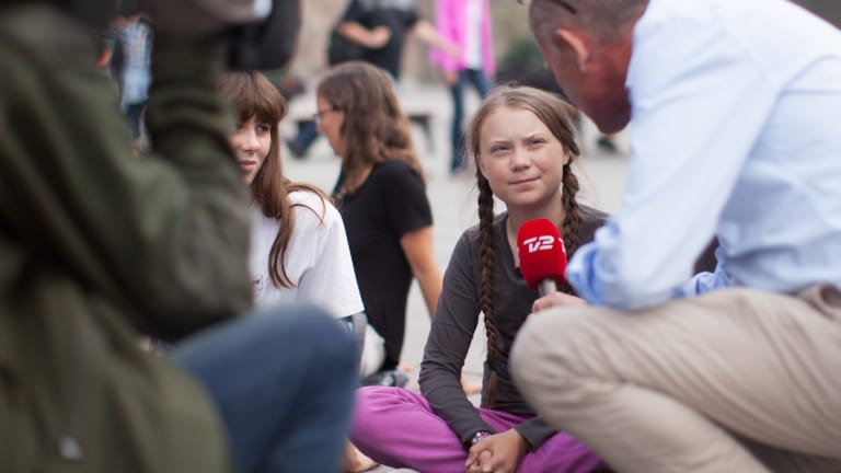 Greta Thunberg, the 15-year-old Swedish student whose 'school strike' has drawn international attention.
