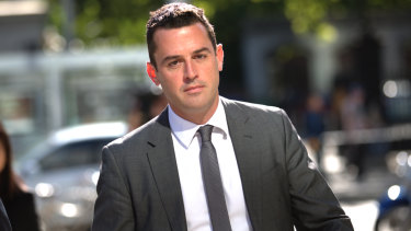 David De Garis outside court on Monday.