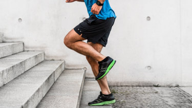 Want to tone up calves but don't have a gym? Find a set of stairs.