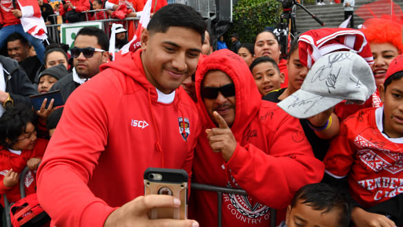 Sea of red to cheer Tonga, but they're well in the black with bookies