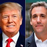 President Donald Trump and attorney Michael Cohen.