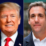 President Donald Trump and attorney Michael Cohen.