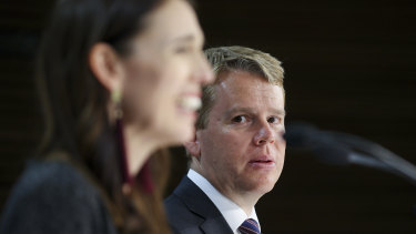 New Zealand PM Jacinda Ardern and Minister for COVID-19 Response, Chris Hipkins.