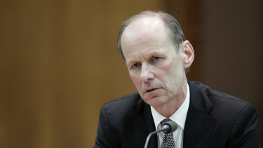 ANZ boss Shayne Elliott in Canberra on Friday.