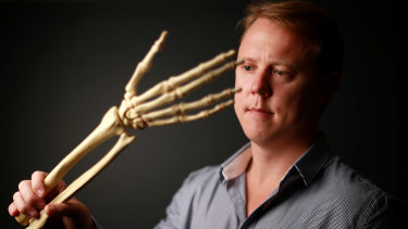 Dr Chris Jeffery, founder of Field Orthopaedics which has won FDA approval for a tiny screw that it claims allows faster and more accurate repairs of delicate hand fractures.