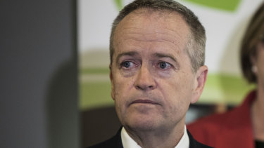 Opposition leader Bill Shorten tears up as he talks about his late mother.
