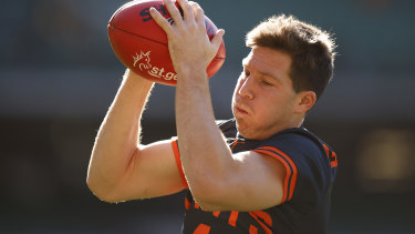 GWS star Toby Green was one of 15 Giants and Swans players ruled out of the Sydney derby.