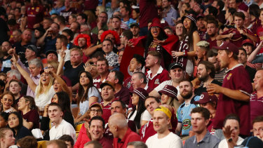 A capacity crowd packed Suncorp Stadium for Wednesday night's State of Origin decider.