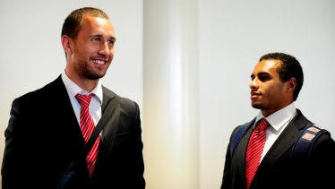The good old days: Cooper and Genia in Canberra in 2010.
