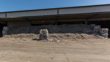 Some of the waste at SKM's Laverton North plant that will end up being taken to landfill.