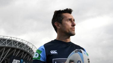 Time to shine: Mitchell Pearce is hoping to parlay Origin redemption into a Kangaroos jersey.