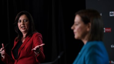 Voters have had mixed reactions to the first face-off between Annastacia Palaszczuk and Deb Frecklington.