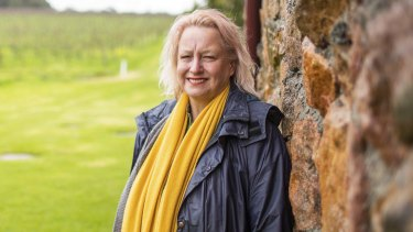Vanya Cullen at her organic Wilyabrup winery, the first fully certified biodynamic vineyard in Australia.