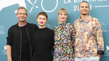 Ben Mendelsohn, Eliza Scanlen, Shannon Murphy and Toby Wallace at the Babyteeth photocall at Venice Film Festival this week.