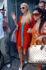 Paris Hilton (left) and Kim Kardashian in Sydney in January 2007.