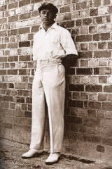 Donald Bradman at the Adelaide Oval for the fourth Test in 1929.