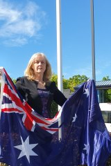 Calamvale Ward councillor Angela Owen outside her office in Calamvale.