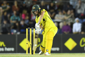 Meg Lanning bats during game two of the women's ODI series between Australia and India.