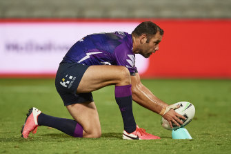 Still in the game: Cameron Smith says he'll wait until after round 16 to decide his playing future.