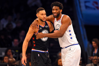 All Stars: Ben Simmons (left) became the first Australian to feature in the NBA All-Star game this year.
