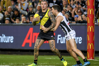 Dustin Martin during the 2018 preliminary final.