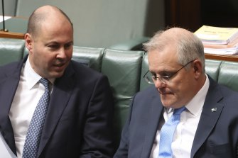 Treasurer Josh Frydenberg and Prime Minister Scott Morrison have been in talks with NSW leaders about the cash flow package.