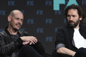 Writer and star Scott Ryan (left) with executive producer and director Nash Edgerton at the Television Critics Association Summer Press Tour in Beverly Hills in August.