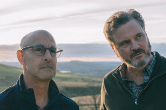 Stanley Tucci and Colin Firth play Tusker and Sam, a couple who struggle with the consequences of Tusker's dementia diagnosis.