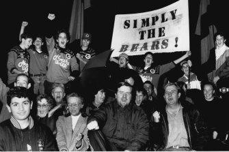 North Sydney Bears fans in 1991.