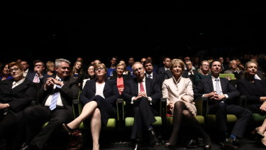 Frontbenchers at the Coalition campaign launch.