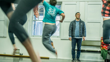 Dean Cross, teaching young people to dance, has been selected to take part in the Canberra Wellington Indigenous Artist Exchange pilot as part of NAIDOC Week