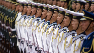Members of the Chinese People's Liberation Army.