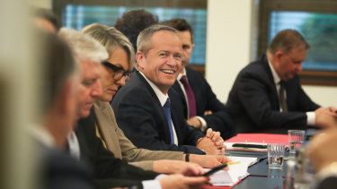 Opposition Leader Bill Shorten reached the new position with his shadow cabinet.