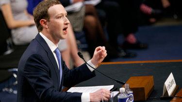 Facebook CEO Mark Zuckerberg testifies in Washington.