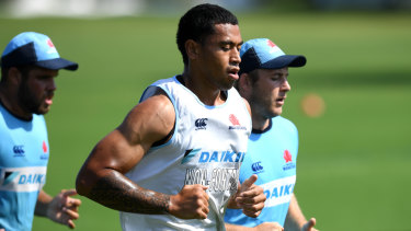 Rising star: John Folau parted ways with the Waratahs last week.