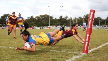 Tiana Penitani scores for NSW City against NSW Country this month.