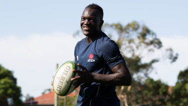 South Sudanese refugee Yool Yool is a booming rugby talent.