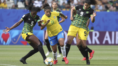 Jamaica take on Brazil in the Women's World Cup on Sunday.