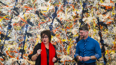 Senior curator of international art Lucina Ward and director Nick Mitzevich at the National Gallery of Australia.