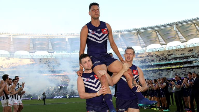Michael Johnson played his final game for Fremantle, with the Dockers defence in good shape for 2019.