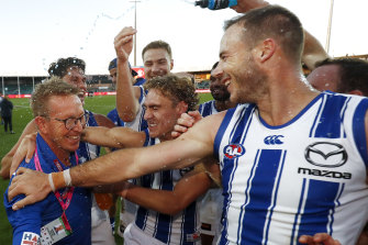 Sheer relief: David Noble and the Roos.