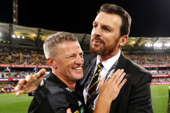 All's well that ends well for Richmond's coach Damien Hardwick and CEO Brendon Gale.