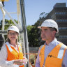 Metro Tunnel crane spruiked by ministers pulled down weeks after going up